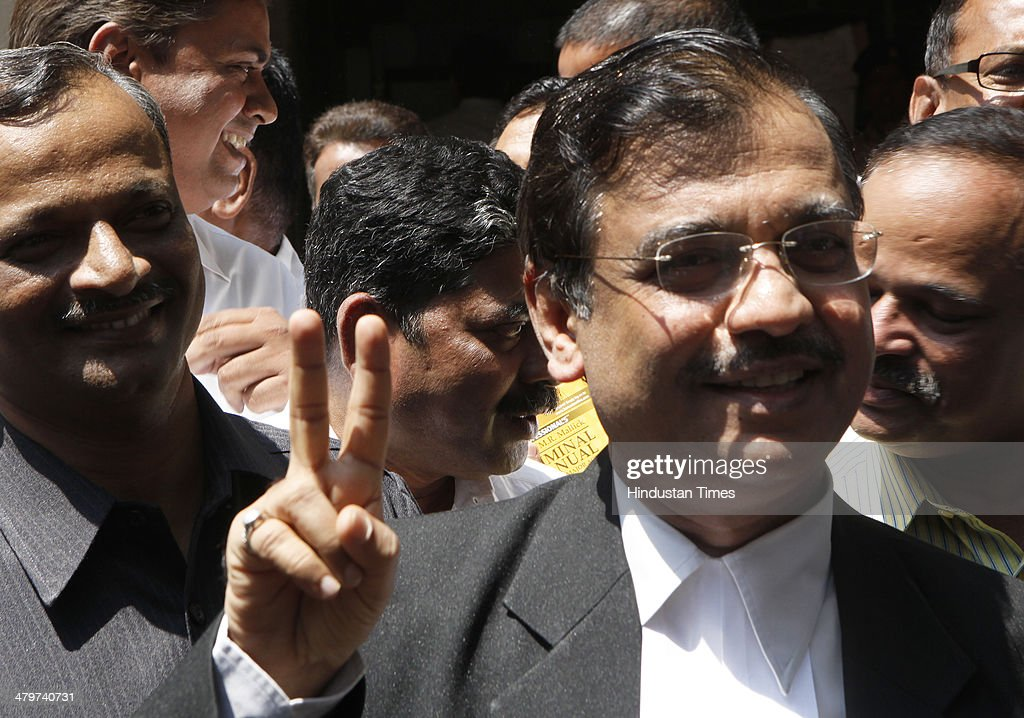 Special Public Prosecutor advocate Ujjwal Nikam, who represented victims in both of the rape cases after 4 accused convicted in Shakti Rape case at Session court on March 20, 2014 in Mumbai, India. Over seven months after the gangrape of two women including a photojournalist in the abandoned Shakti Mills compound in Mumbai, five persons were held guilty by a local court which will pronounce the quantum of punishment tomorrow.