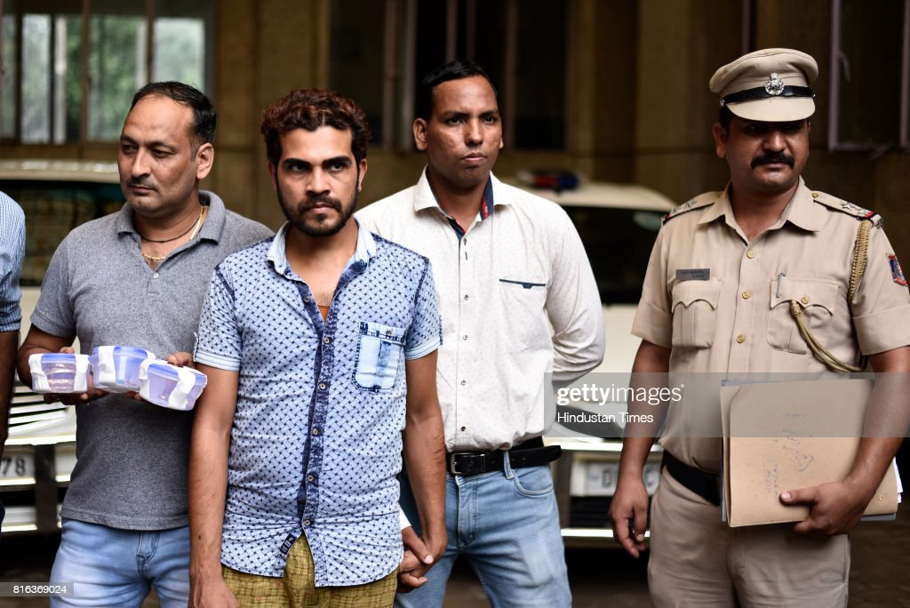 Special South East Police arrest a Robin Hood burglar Irfan aka Ujjala on July 17, 2017 in New Delhi, India. Irfan, 27, was caught from Bihar's Pupri district by Delhi Police team for involvement in at least 12 cases of burglary. In his native village in Bihar's Sitamarhi district, Irfan portrayed himself as a social worker who organised health camps and funded the weddings for poor families all to fuel his political ambitions.
