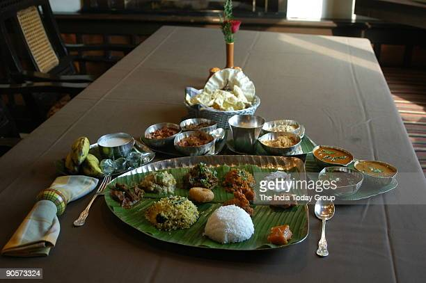 Special Thali food at the Southern Aromas is the South Indian restaurant at the Residency Towers Hotel in Chennai Tamil Nadu India