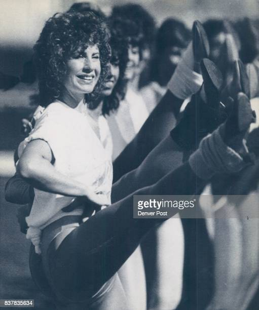 Special to the Denver Post 1/20 Dottie Belle of Middleton Ohio is among the Rockettes practicing Thursday for halftime show Super Bowl