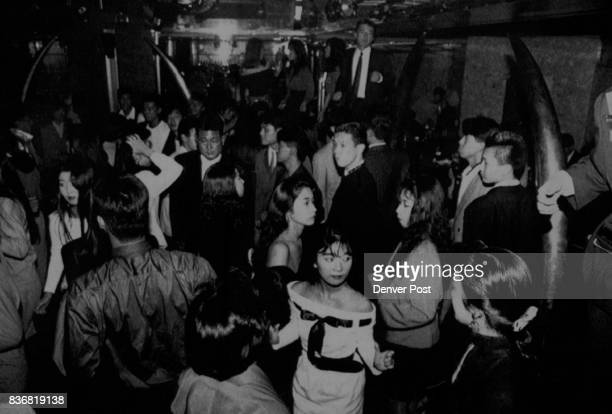 Special Transmission for the Denver PostexMarcia Stepanek Tokyo Photo shows youngsters dance in Majahara disco in Tokyo Tuesday night Photo by Koji...