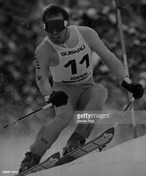 Special Transmission To The Denver PostAspen Colo Phil Mahre Ski Team member won the Men's Giant slalom on Aspen mountain today is show during his...