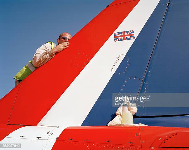 Specialist Corporal Mal Faulder is an armourer engineer but here in the elite 'Red Arrows' Britain's prestigious Royal Air Force aerobatic team he is...
