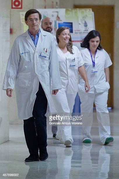Specialist doctor in infectious illnesses Jose Ramon Arribas and specialist doctors in tropical medicine Fernando de la Calle Marta Arsuaga and Marta...