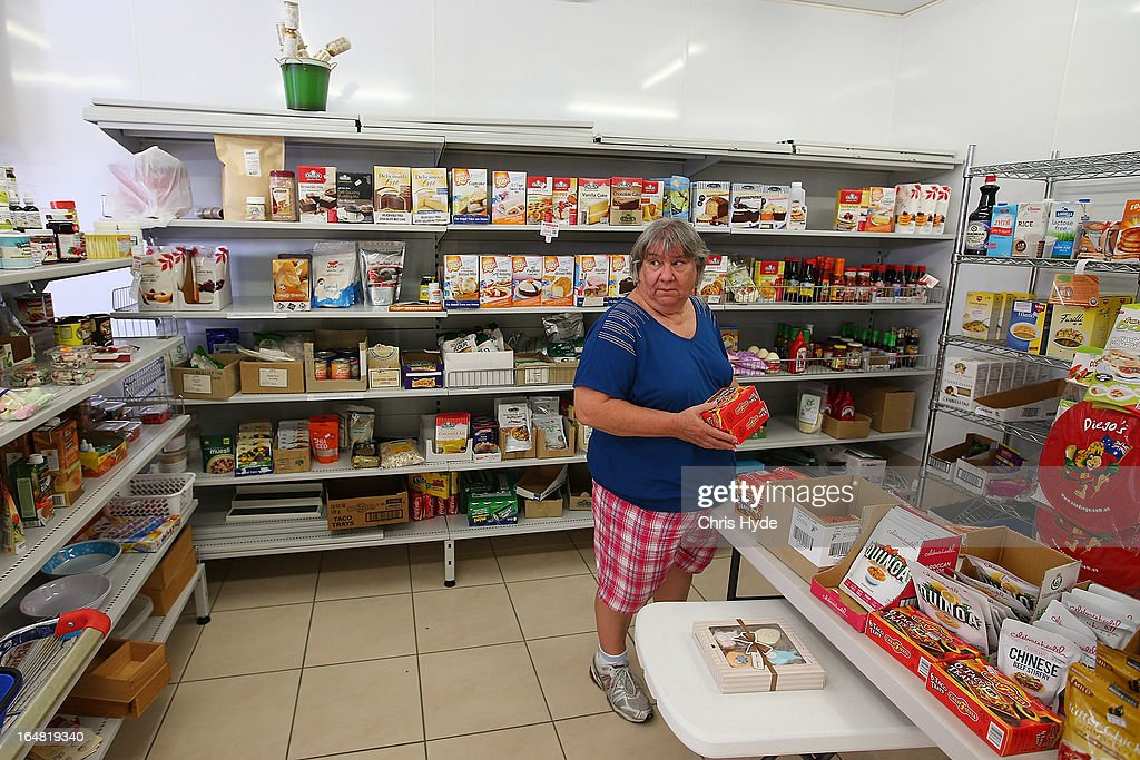 Speciality food shop owner Georgina inside her Celiac Supplies store in the suburb of Coorparoo on March 28, 2013 in Brisbane, Australia. The store is charging $5 for customers to browse the store to prevent shoppers from seeking her advise and expertise on products but buying elsewhere.
