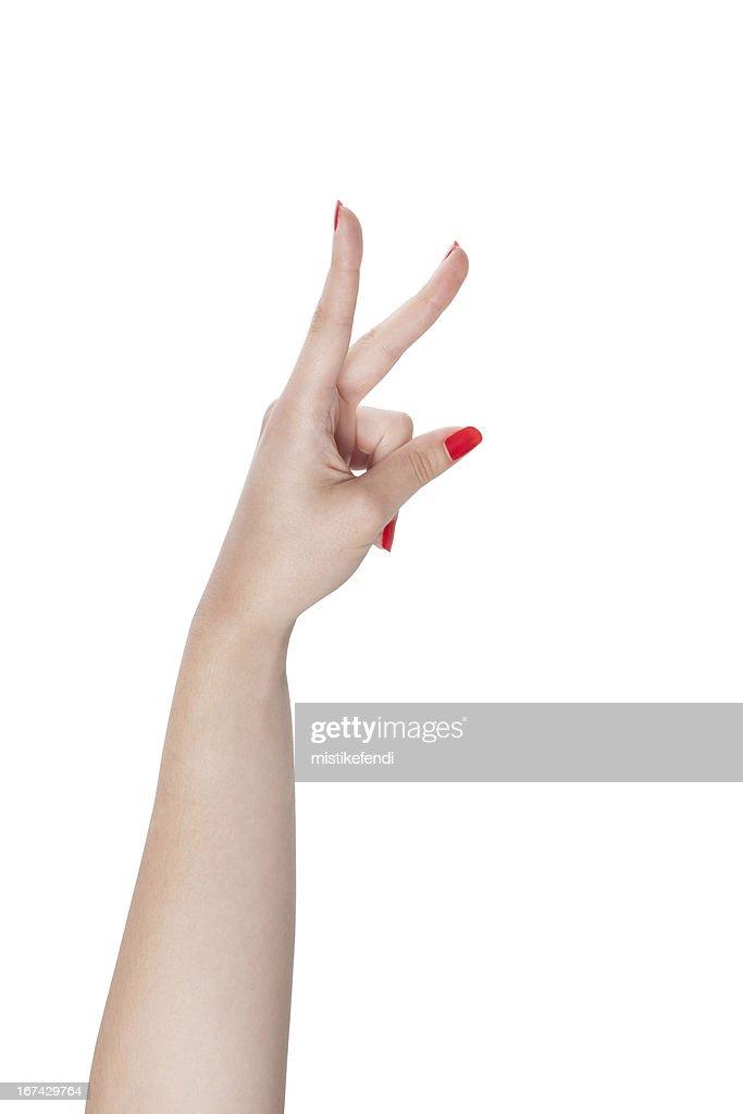 Indicar o número de dedos : Foto de stock
