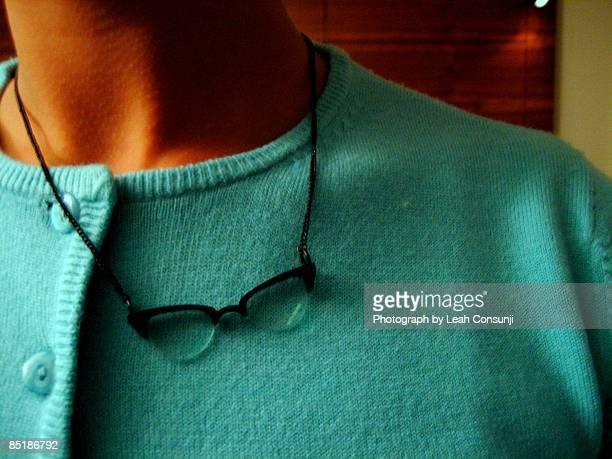 Specs hanging around the neck