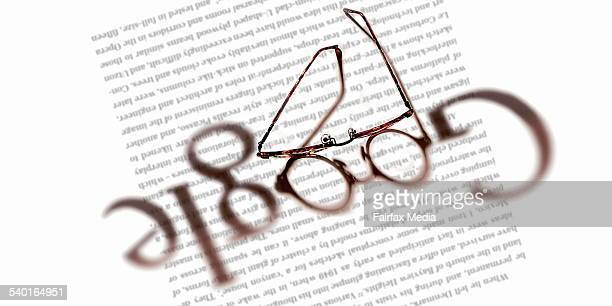 Spectacles advertise the Google logo 10 November 2006 AFR Photo Illustration by DOROTHY WOODGATE