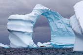 Spectacular Arch Shaped Iceberg in Antarctica