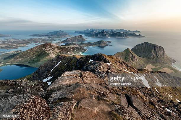 Spectacular overview Lofoten islands panorama