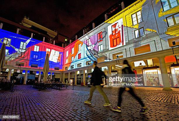 A spectacular Piece Of Visual Art By 59 Productions To Mark The Opening Of Deloitte Ignite Festival at The Royal Opera House on September 3 2015 in...