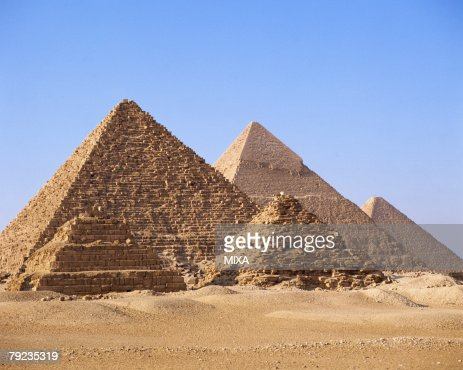 Spectacular view of pyramids in Giza, Egypt : Stock Photo