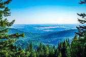 A spectacular view from Mount Spokane in Spokane Washington.