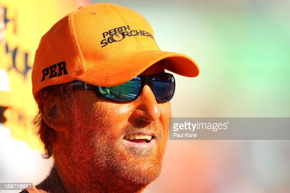 A spectator looks on during the Big Bash League final match between the Perth Scorchers and the Brisbane Heat at the WACA on January 19 2013 in Perth...