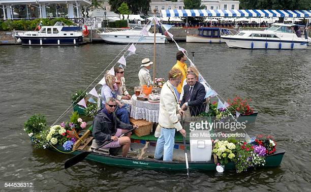 Spectators along the course at Henley Royal Regatta on The River Thames at Henley UK Quarter Finals Day on July 1 2016 in Henley England