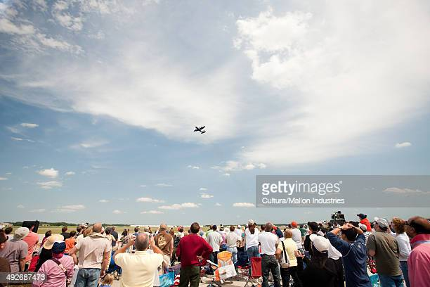 Spectators at airshow