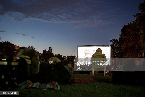 Spectators at Open-Air cinema, Wiesbaden