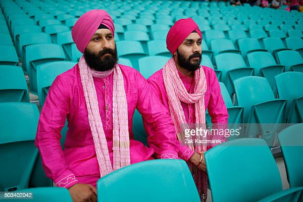 Spectators await the start of play as rain delays the match during day three of the third Test match between Australia and the West Indies at Sydney...