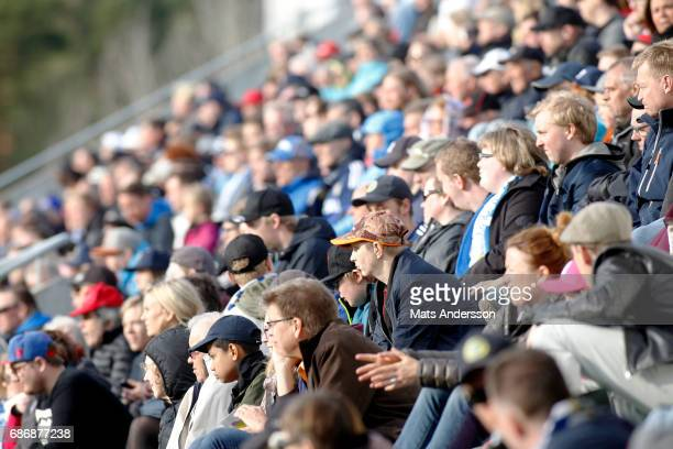 Spectators during the Allsvenskan match between GIF Sundsvall and IFK Goteborg at Idrottsparken on May 22 2017 in Sundsvall Sweden