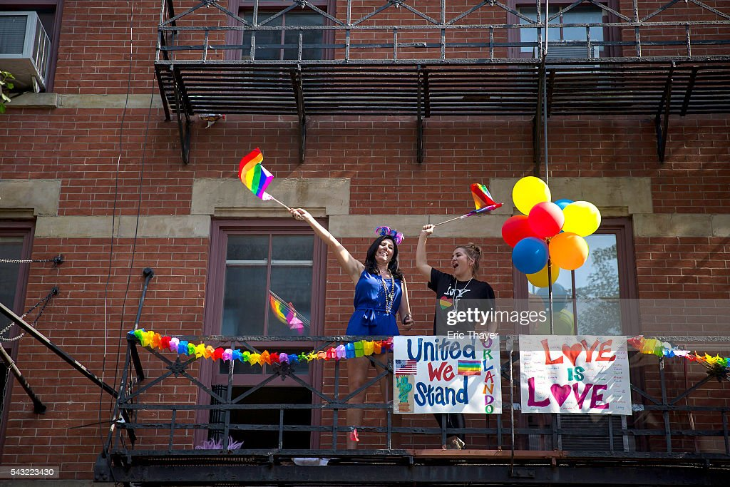 Spectators during the New York City Pride March, June 26, 2016 in New York City. This year was the 46th Pride march in New York City