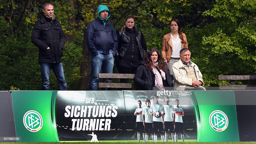 Spectators during the U16 Juniors Federal Cup at Sportschule Wedau on May 03, 2016 in Duisburg, North Rhine-Westphalia.
