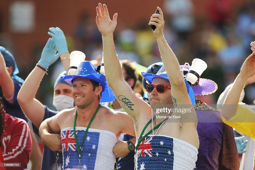 Spectators enjoy the atmosphere during game two of the Commonwealth Bank One Day International series between Australia and Sri Lanka at Adelaide Oval on January 13, 2013 in Adelaide, Australia.