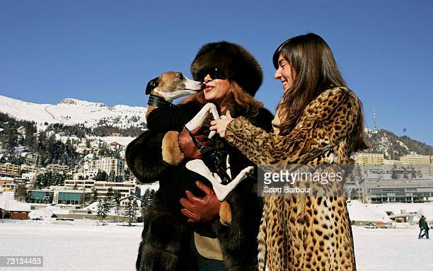 Spectators enjoy the atmosphere during the 23rd Cartier Polo World Cup on Snow on January 28 2007 in St Moritz Switzerland The Cartier Polo World Cup...