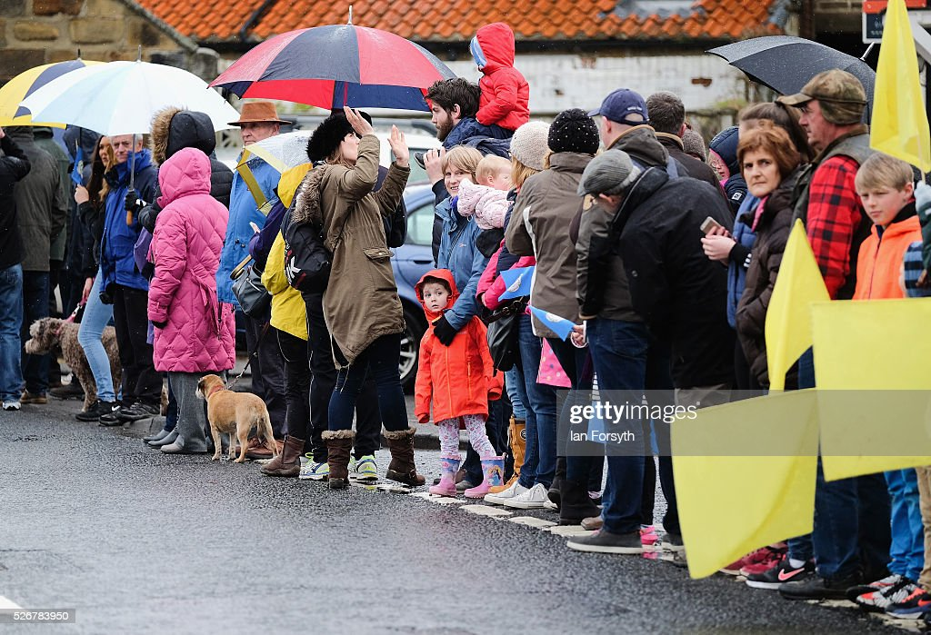 Spectators line the route as they wait for stage three of the Tour de Yorkshire cycle race to pass on May 1, 2016 in Great Ayton, England. Returning for a second year the hugely popular race has grown to be one of the most spectacular events in the British sporting calendar. Up to a million people have lined the route along the three stages of the race which ends today with the 198km Middlesbrough to Scarborough leg.