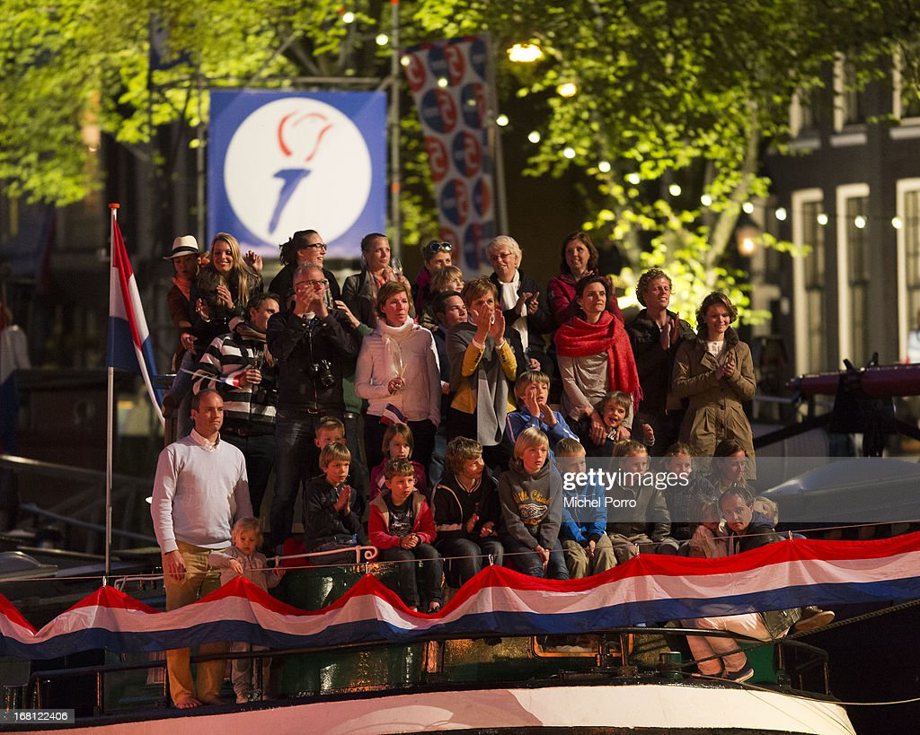 Spectators look on during Freedom Concert on May 5, 2013 in Amsterdam Netherlands.