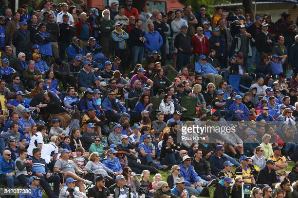 Spectators look on during the round one NRC match between Perth Spirit and Melbourne Rising at McGillivray Oval on September 3 2017 in P
