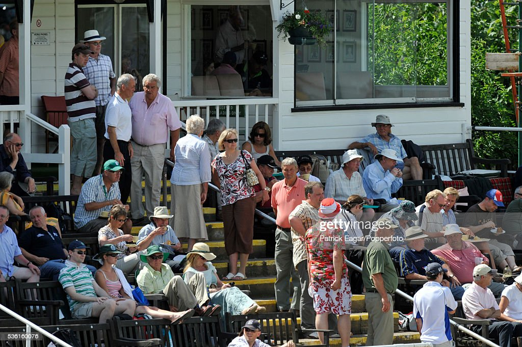 Spectators queue for cakes in the Ladies pavilion during the tour match between England Lions and Australia at New Road in Worcester, 2nd July 2009.