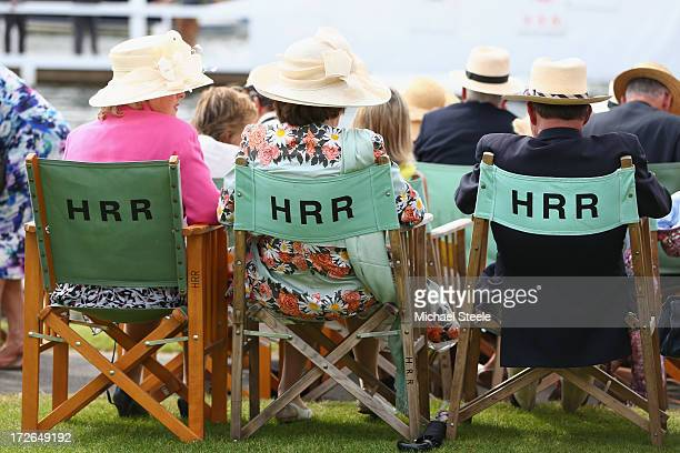 Spectators relaxing in the stewards enclosure during day two of the Hnley Royal Regatta on July 4 2013 in HenleyonThames England