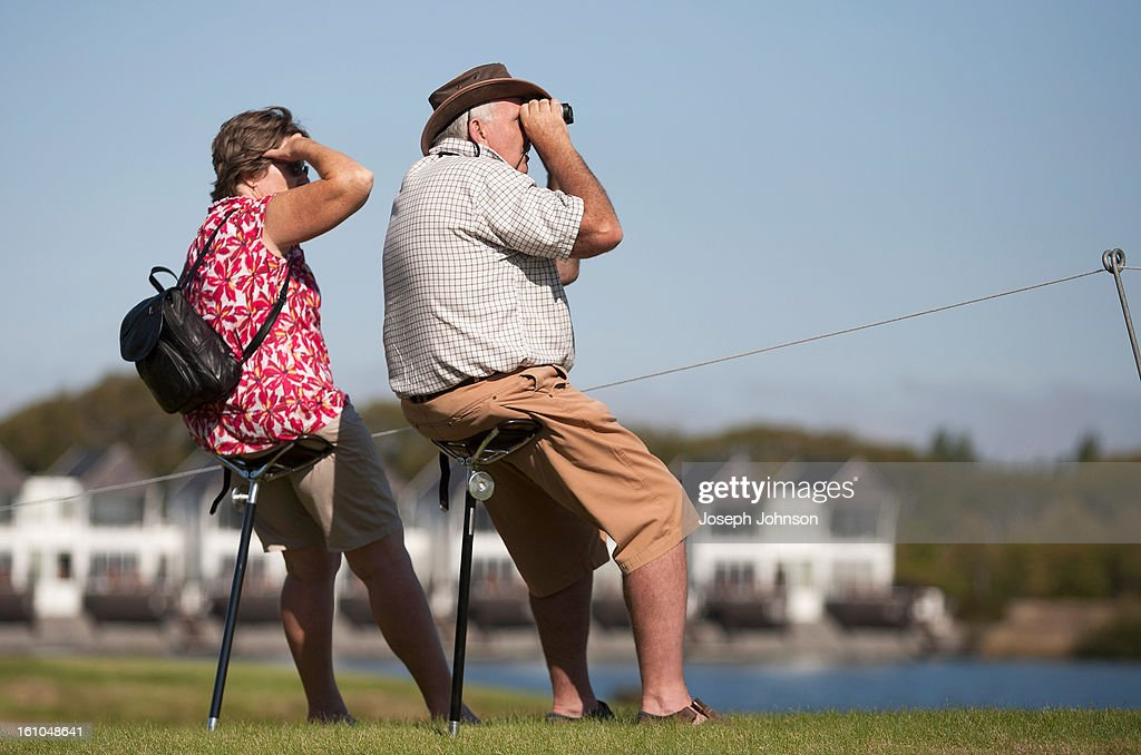 Spectators watch the action during day two of the New Zealand women's golf open at Clearwater Golf Course on February 9, 2013 in Christchurch, New Zealand.