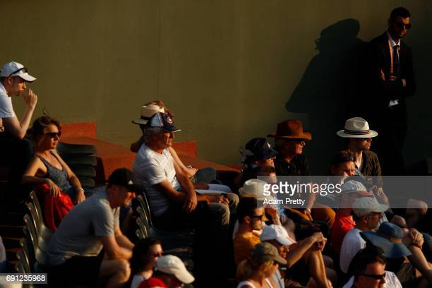 Spectators watch the action during the ladies singles second round match between Petra Martic of Croatia and Madison Keys of the United States on day...
