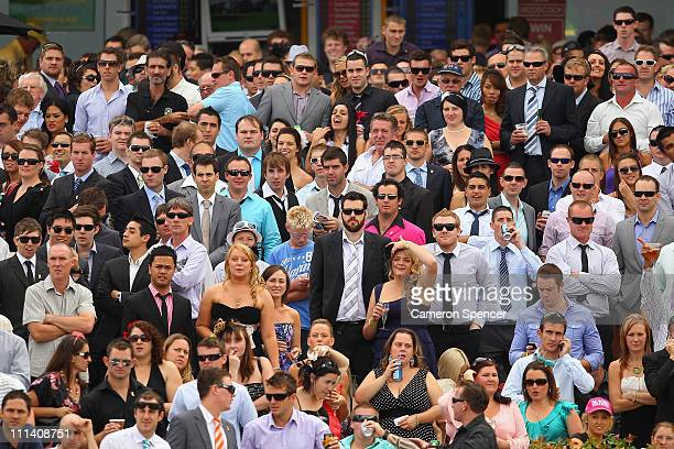 Spectators watch the Daily Telegraph George Ryder Stakes race during Golden Slipper Day at Rosehill Gardens on April 2 2011 in Sydney Australia