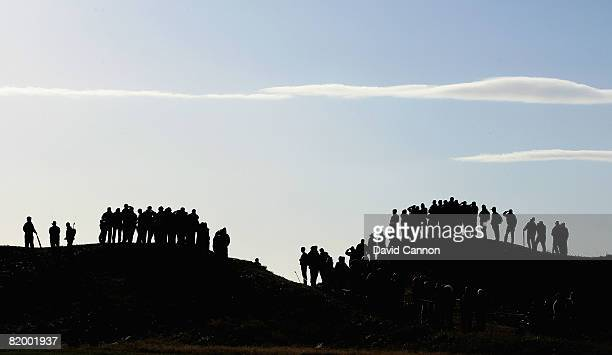 Spectators watch the play during the third round of the 137th Open Championship on July 19 2008 at Royal Birkdale Golf Club Southport England