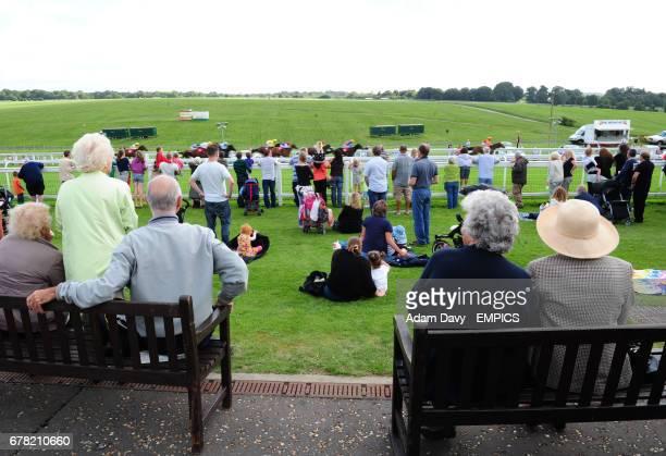 Spectators watch the Terry Mills Handicap Stakes