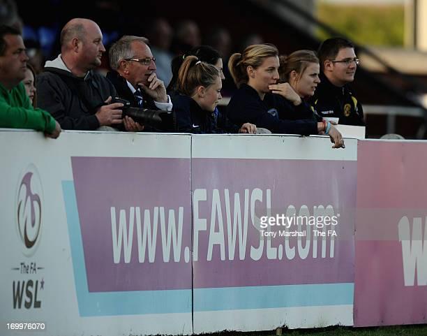 Spectators watching Birmingham City play Bristol Acadamy during The FA Women's Super League match between Birmingham City Ladies FC and Bristol...