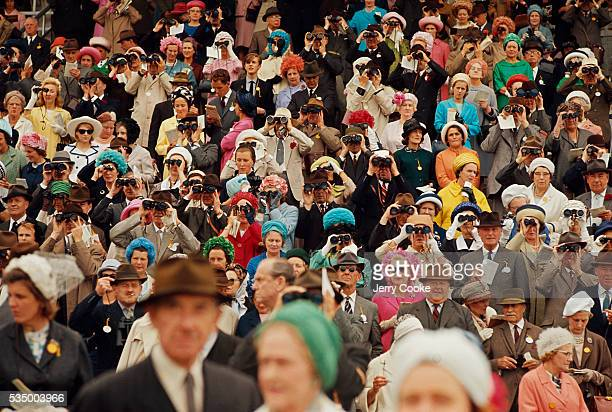 Spectators Watching Race at Goodwood Racecourse