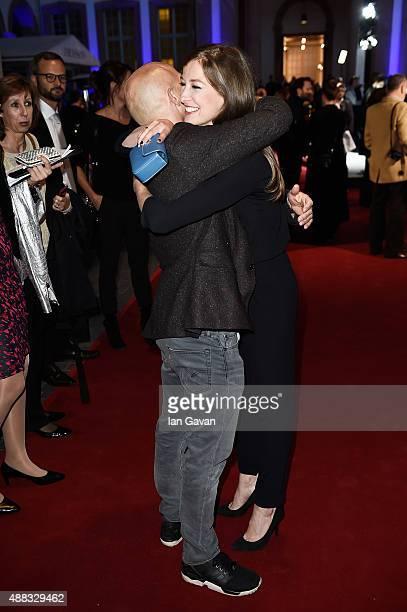 Spectre cast members Naomie Harris and David Bautista join Alexandra Maria and Jurgen Vogel at starstudded event in Frankfurt as Jaguar and Land...