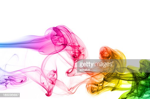 spectrum colors on smoke
