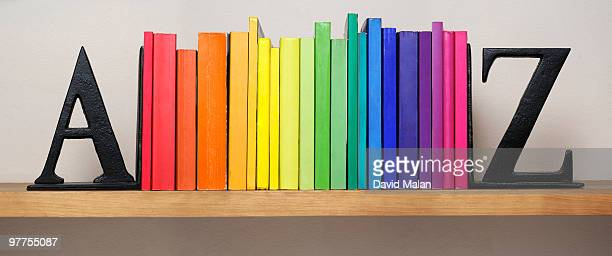 Spectrum of books between A & Z bookends