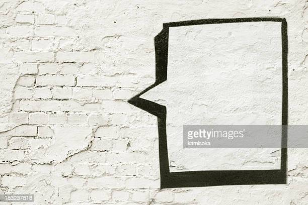 Speech Balloon On White Wall