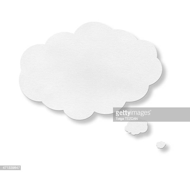 Speech bubble centered on a white background