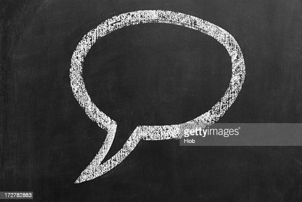 Discurso extracción en una pizarra de pensamiento
