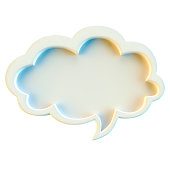 Speech bubble isolated on white background
