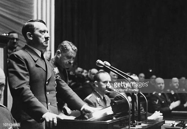 Speech Of Hitler During The National Day Of The Reich And The War Declaration Against Usa In Germany On December 11St 1941