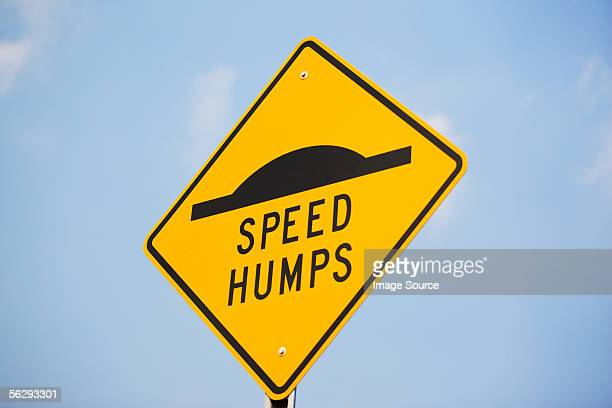 Speed bump sign