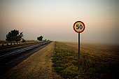 Speed limit, Crimea, Ukraine