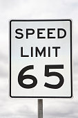 Speed Limit Sign 65 Miles Per Hour